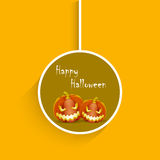 Tags, labels or stickers with scary pumpkins. Royalty Free Stock Photography