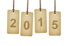Tags lettering 2015 Stock Photo