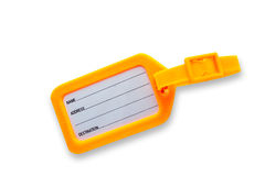 Tags for luggage on white background with clipping path Stock Image