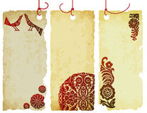 Tags made by old paper Stock Photo
