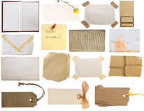 Tags and notes collection royalty free stock photo