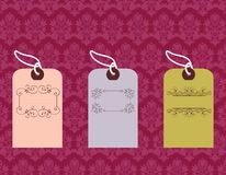 Tags with ornate designs Royalty Free Stock Image