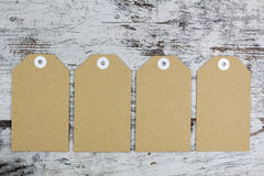 Tags for packaging Royalty Free Stock Photography