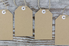 Tags for packaging. With room for text royalty free stock image