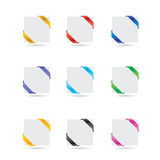 Tags and paper icons Royalty Free Stock Images