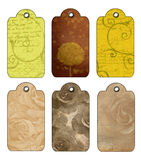 Tags in pastel colours Royalty Free Stock Photos