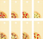 Tags pizza Royalty Free Stock Photos