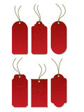 Tags_Red_03 Stock Photography