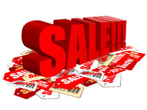 Tags sale Stock Photo