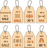Tags for sale. Stock Photos