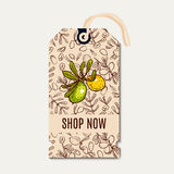 Tags sale in eco-style. Royalty Free Stock Photos