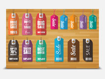 Tags for sale, Stock Photo