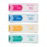 Tags for sale. Set of tag for sale.vector Royalty Free Stock Photo