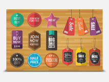 Tags for sale,vector Stock Images