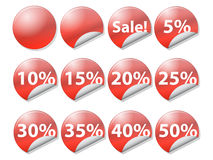 Tags on selling retail Royalty Free Stock Photo