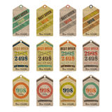 Tags set Royalty Free Stock Photos