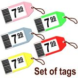 Tags for shops. Set of tags for shops Royalty Free Stock Images