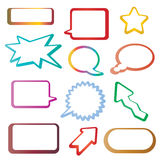 Tags and speech bubbles Royalty Free Stock Image