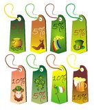 Tags for  for St.Patrick's day Stock Photo