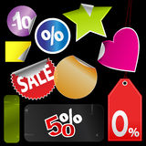 Tags and stickers Royalty Free Stock Photos