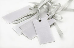 Tags with ties gray Royalty Free Stock Photography