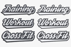 Tags Training Workout CrossFit in sports style Royalty Free Stock Images