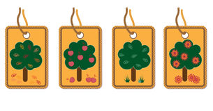 Tags with trees Stock Images