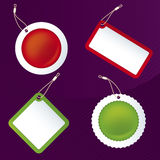 Tags (vector). Vector only global colors. CMYK. Separate shapes. Easy color changes. Layered Royalty Free Stock Photos