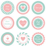 Tags  for wedding. Set of tags, labels for wedding cupcakes Stock Images