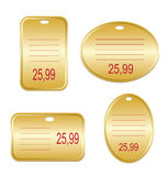 Tags. On  a white background Royalty Free Stock Image