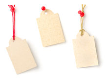 Tags on a white background Royalty Free Stock Photo