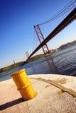 Tagus Bridge. Bridge over Tagus river in Lisbon Portugal Stock Photos