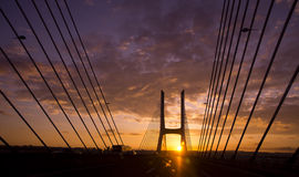 Tagus bridge Lisbon Portugal Royalty Free Stock Images