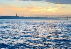 Tagus-Fluss, Lissabon, Portugal Lizenzfreies Stockbild