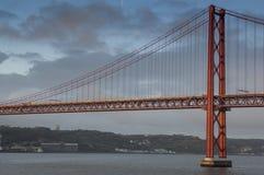 The Tagus River Bridge at Dawn Stock Images