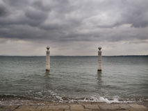 Tagus River Close To Comercio Square - Lisbon Royalty Free Stock Photo