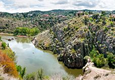 The Tagus River flows through Toledo, Spain Royalty Free Stock Photography