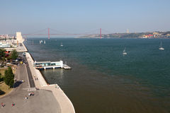 Tagus river at Lisbon Royalty Free Stock Images