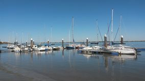 Tagus river marina. In Alhandra Royalty Free Stock Photography