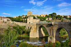 Tagus river passing through Toledo, Spain Royalty Free Stock Image