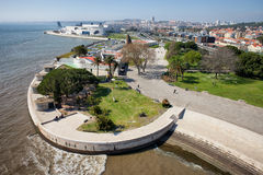 Tagus River Promenade in Lisbon Stock Images