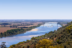 The Tagus River (Rio Tejo), the largest of the Iberian Peninsula Royalty Free Stock Photography