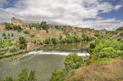 Tagus river at Toledo, Spain Royalty Free Stock Photography