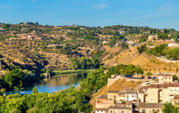 The Tagus River in Toledo, Spain Stock Image