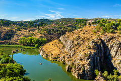 The Tagus River in Toledo, Spain Stock Photos