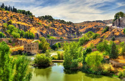 The Tagus River in Toledo, Spain Royalty Free Stock Image