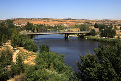 Tagus river in Toledo, Spain. View from old town Stock Photos