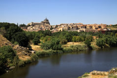 Tagus river in Toledo, Spain Royalty Free Stock Photos