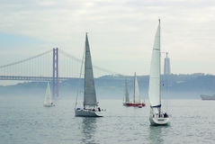 Tagus Sailing Royalty Free Stock Image