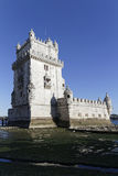 Tagus shore and tower of Belem Royalty Free Stock Photography